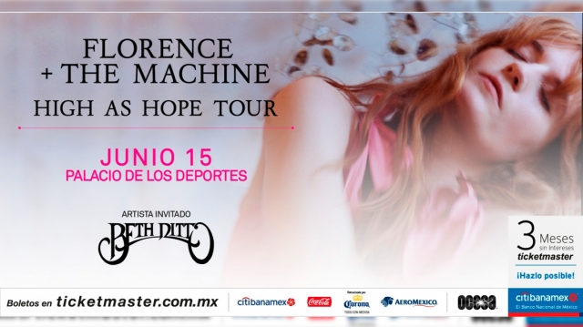Todo listo para Florence + The Machine en el Paladio de los Deportes
