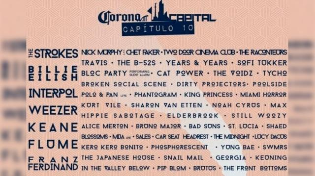 Se viene el festival Corona Capital 2019