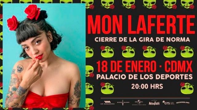 Mon Laferte, lista para su concierto en el Palacio de los Deportes