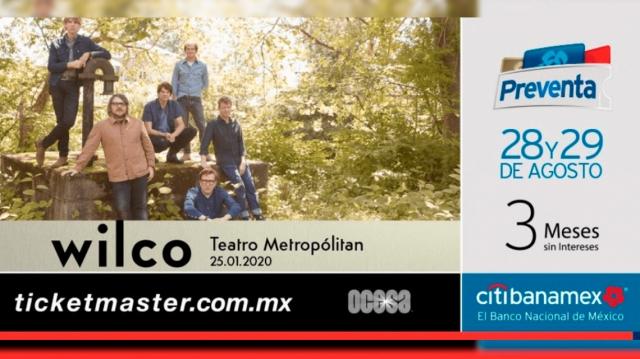 Todo listo para Wilco en el Teatro Metropólitan