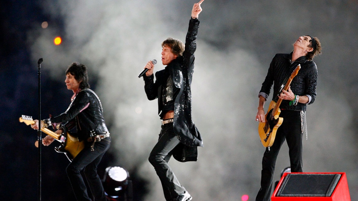 The Rolling Stones y su gran show en el Super Bowl