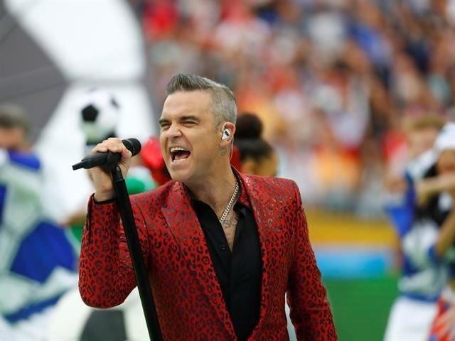 Robbie Williams inauguró la Copa del Mundo Rusia 2018