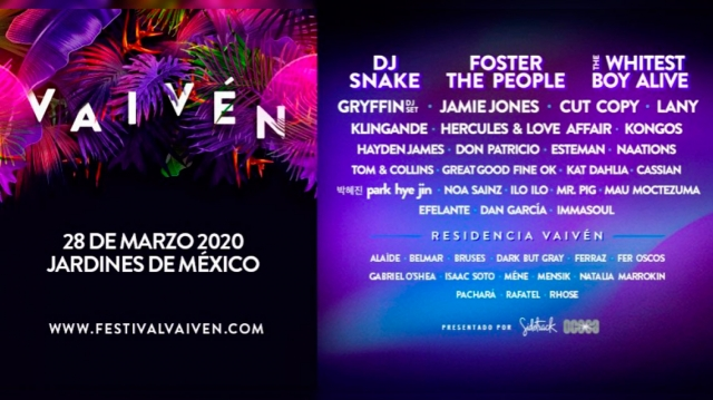 Festival Vaivén confirma su line up 2020