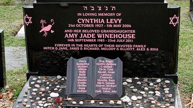 Miles visitan la tumba de Amy Winehouse