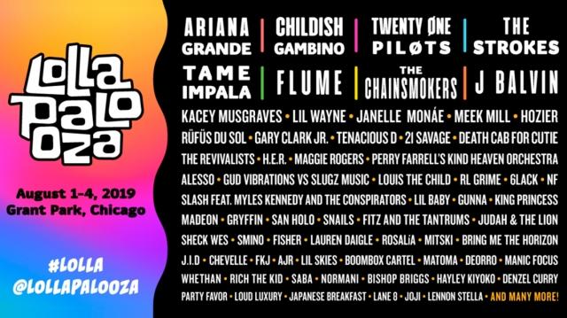 The Strokes encabezarán Lollapalooza 2019