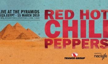 Red Hot Chili Peppers en las Pirámides de Egipto